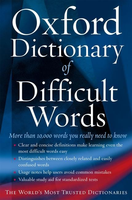 The Oxford Dictionary of Difficult Words als Taschenbuch