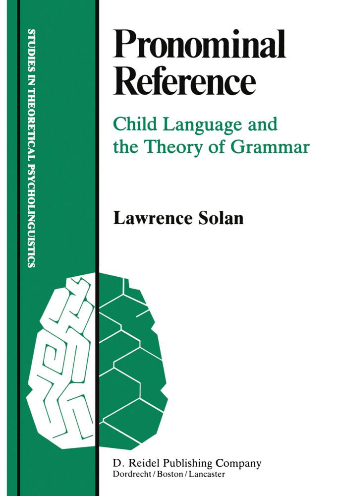Pronominal Reference als Buch (gebunden)