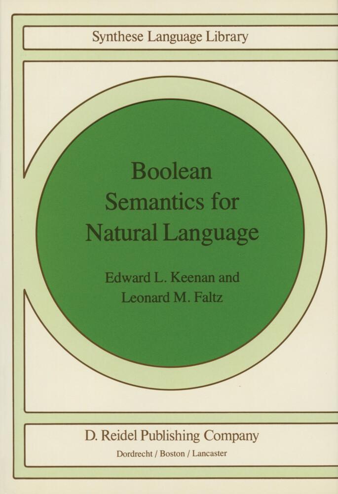 Boolean Semantics for Natural Language als Buch (gebunden)