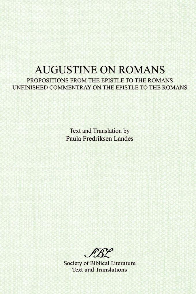 Augustine on Romans als Taschenbuch