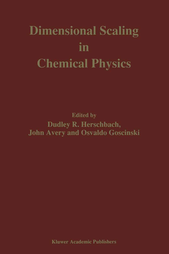 Dimensional Scaling in Chemical Physics als Buch (kartoniert)