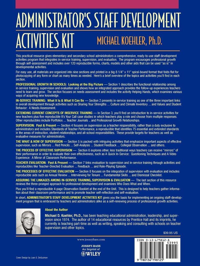 Administrator's Staff Development Activities Kit als Taschenbuch