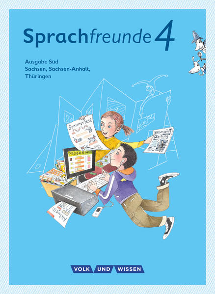 Sprachfreunde 4. Schuljahr - Ausgabe Süd (Sachsen, Sachsen-Anhalt, Thüringen) - Sprachbuch mit Grammatiktafel und Lernentwicklungsheft als Buch (kartoniert)