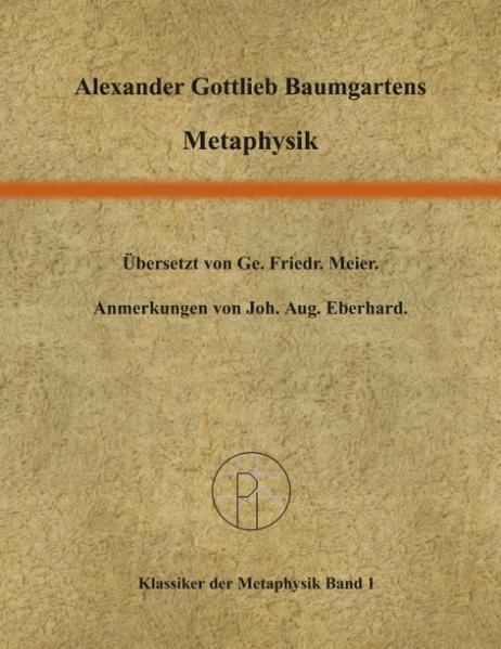 Metaphysik als Buch (kartoniert)
