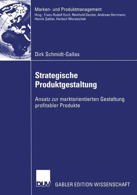 Strategische Produktgestaltung als Buch (kartoniert)