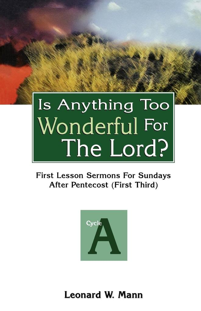 Is Anything Too Wonderful for the Lord? als Buch (kartoniert)
