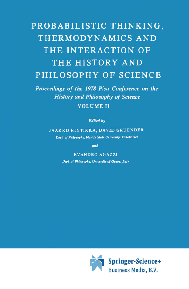 Probabilistic Thinking, Thermodynamics and the Interaction of the History and Philosophy of Science als Buch (gebunden)
