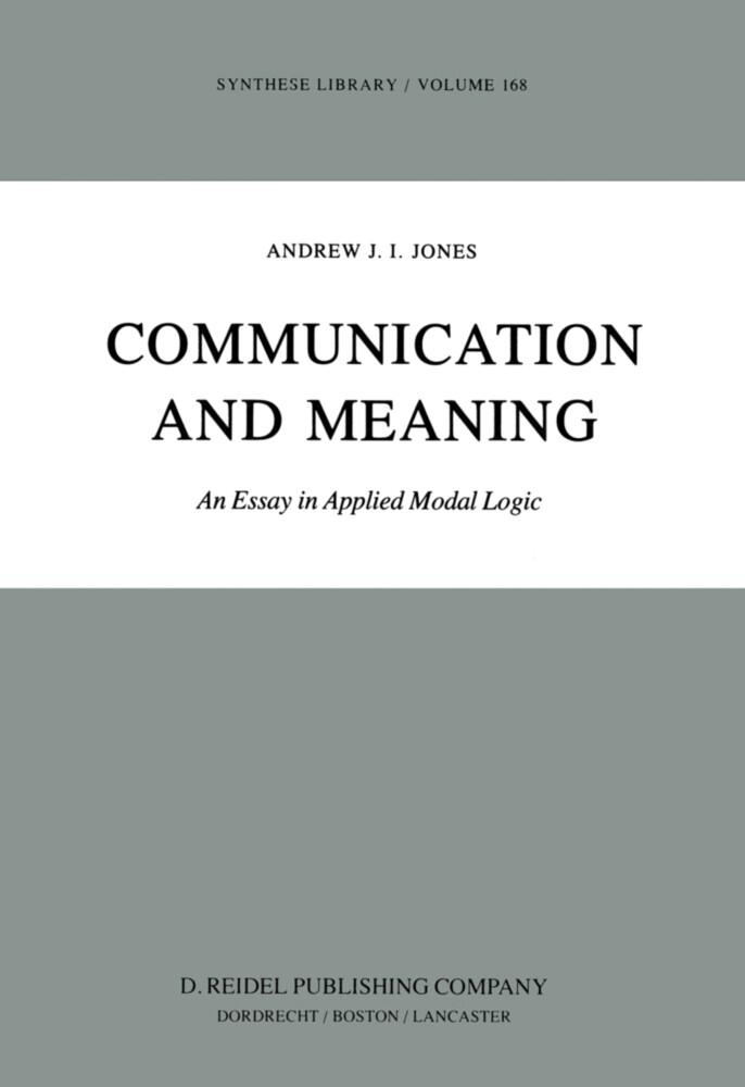 Communication and Meaning als Buch (gebunden)