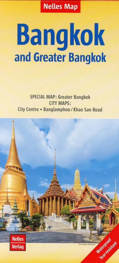 Nelles Map Bangkok and Greater Bangkok als Blätter und Karten