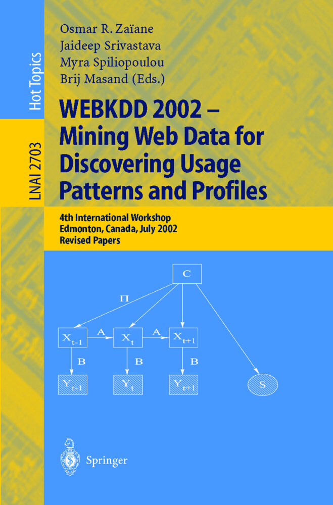WEBKDD 2002 - Mining Web Data for Discovering Usage Patterns and Profiles als Buch (kartoniert)