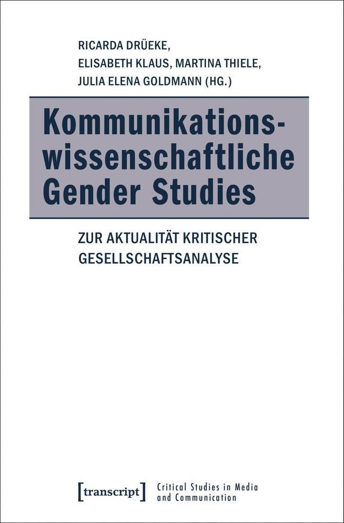 Kommunikationswissenschaftliche Gender Studies als Buch (kartoniert)