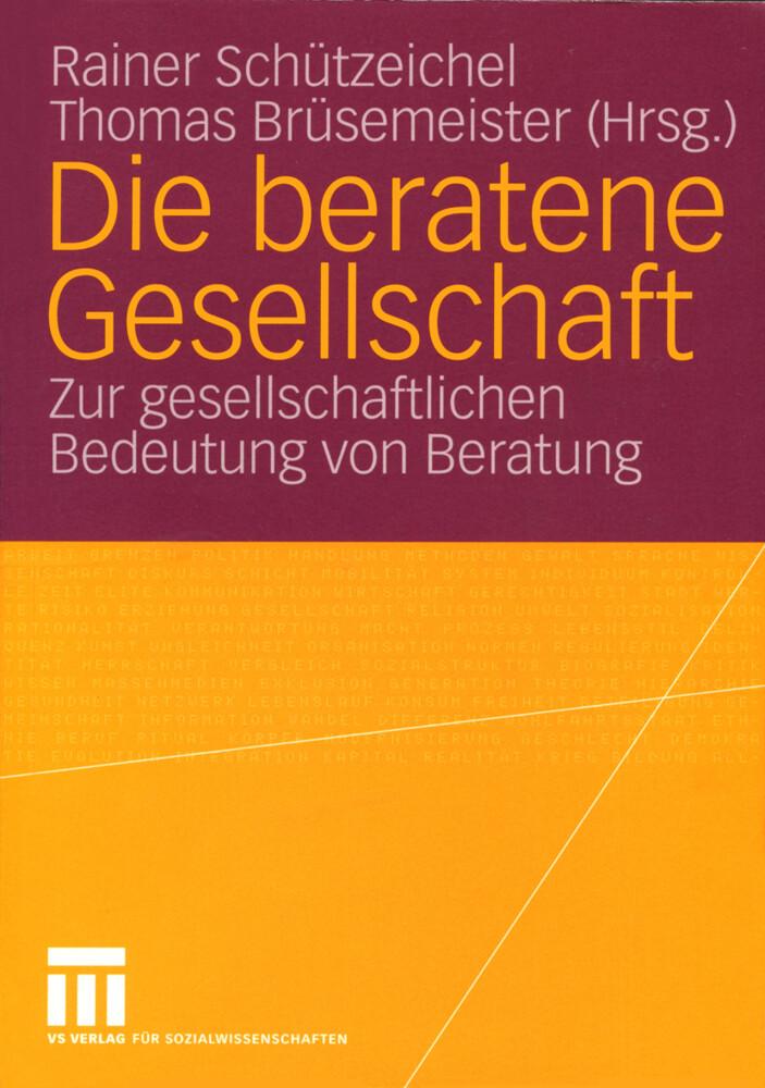 Die beratene Gesellschaft als Buch (kartoniert)