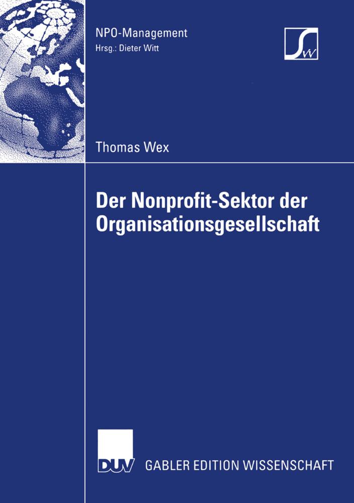 Der Nonprofit-Sektor der Organisationsgesellschaft als Buch (kartoniert)