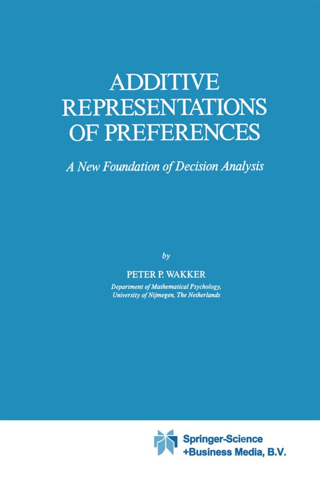 Additive Representations of Preferences als Buch (gebunden)