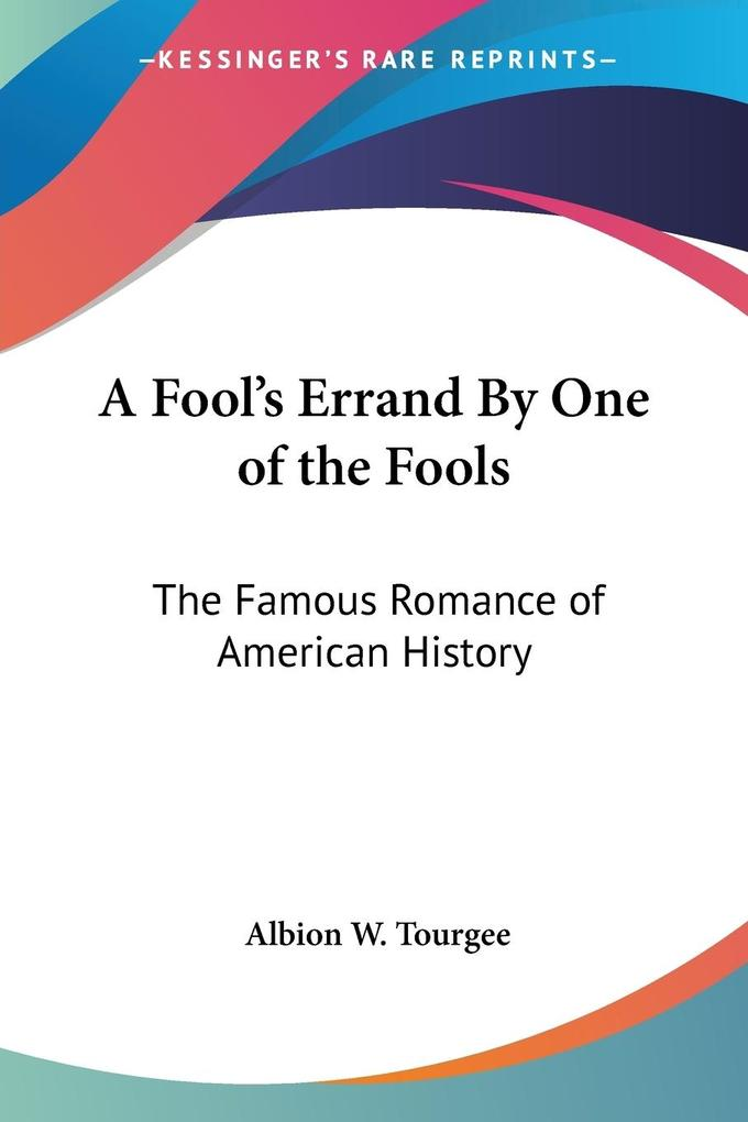 A Fool's Errand By One of the Fools als Taschenbuch
