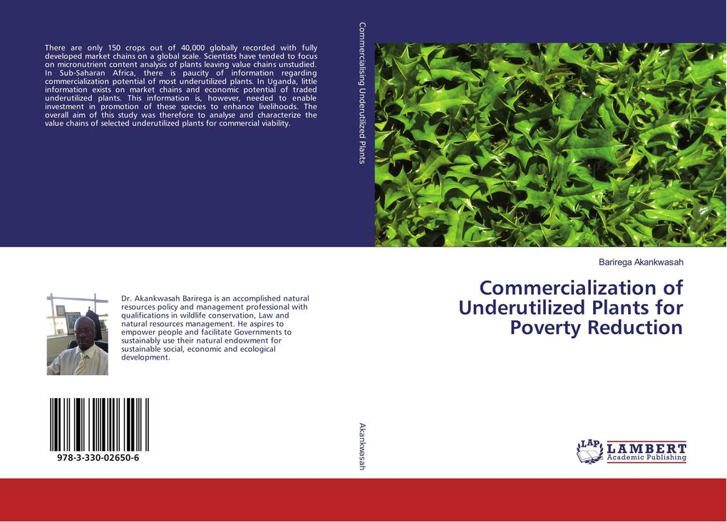 Commercialization of Underutilized Plants for Poverty Reduction als Buch (kartoniert)