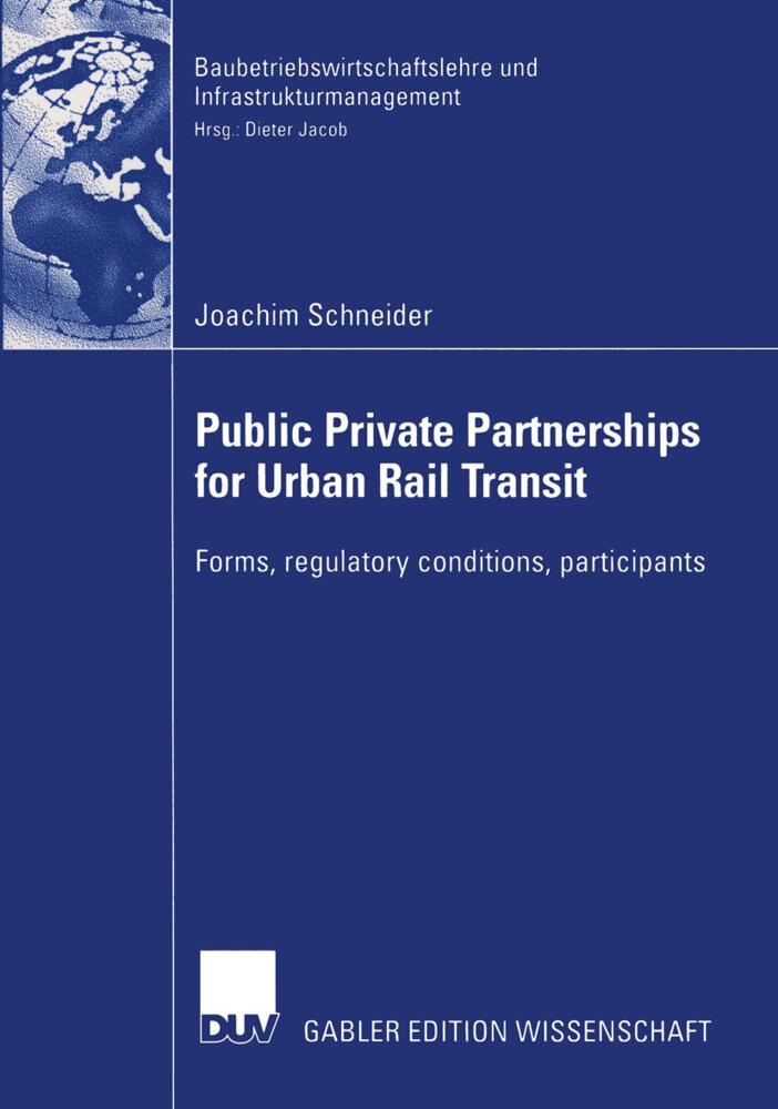 Public Private Partnership for Urban Rail Transit als Buch (kartoniert)