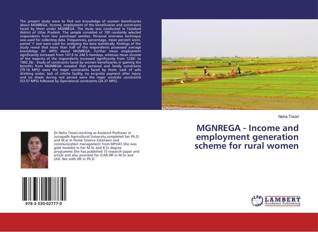 MGNREGA - Income and employment generation scheme for rural women als Buch (kartoniert)
