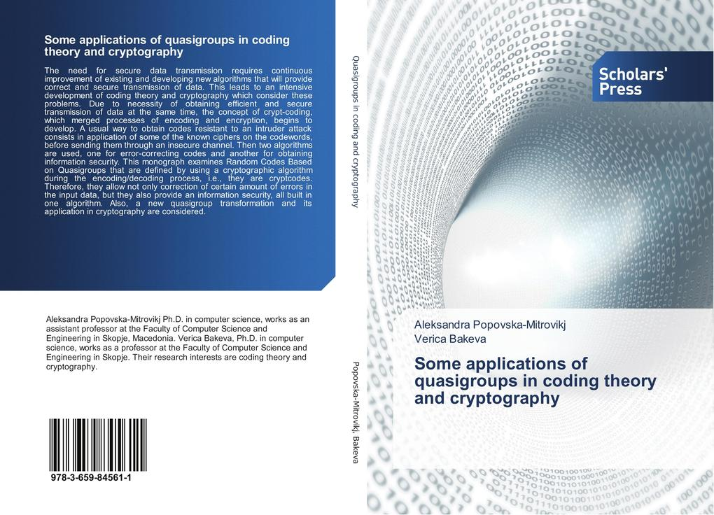 Some applications of quasigroups in coding theory and cryptography als Buch (kartoniert)