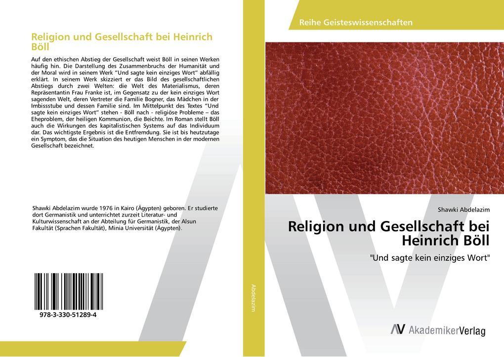 Religion und Gesellschaft bei Heinrich Böll als Buch (kartoniert)