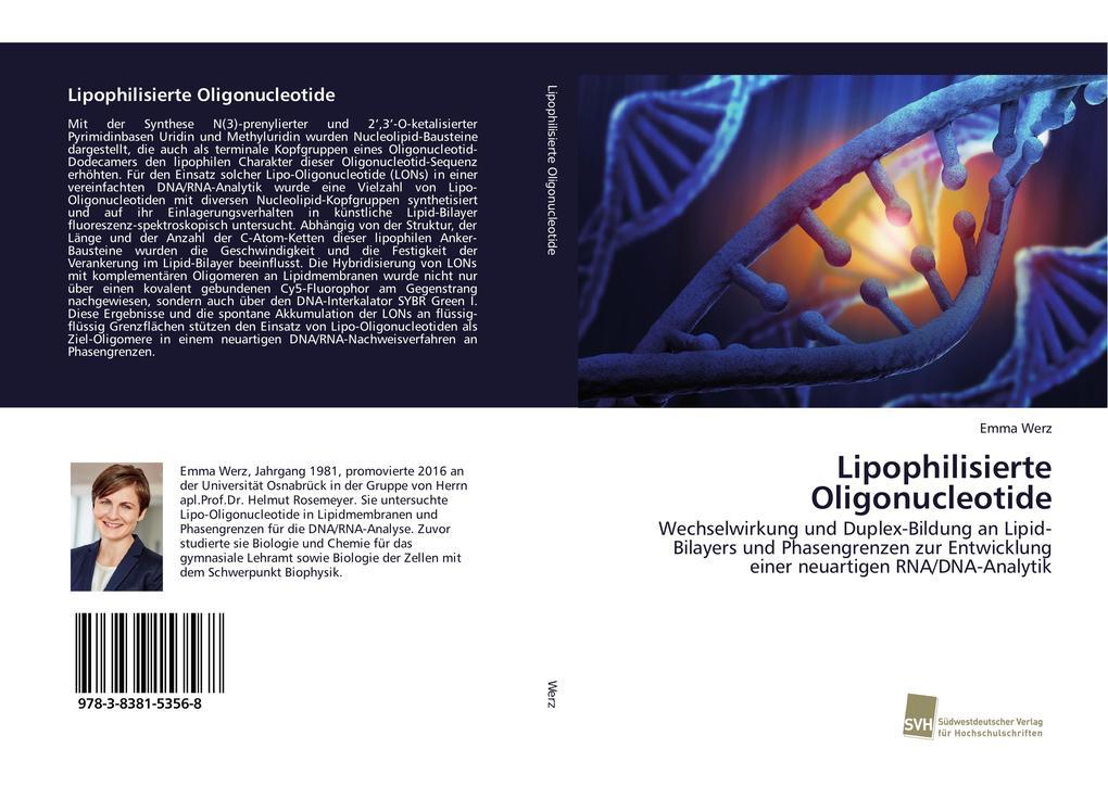 Lipophilisierte Oligonucleotide als Buch (kartoniert)