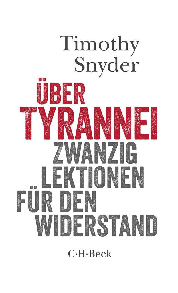 Über Tyrannei als Buch (kartoniert)