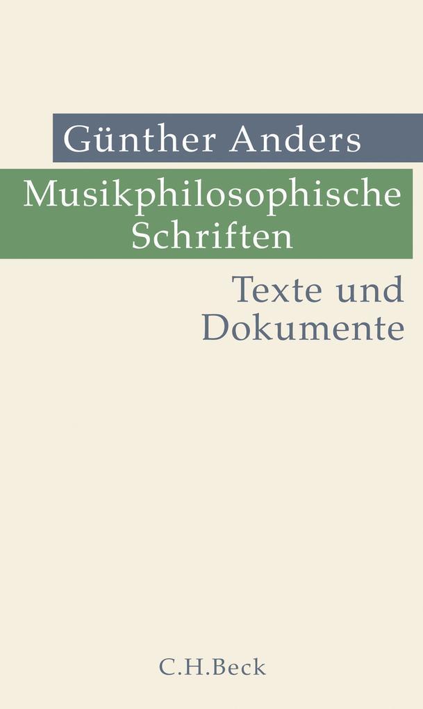 Musikphilosophische Schriften als eBook pdf