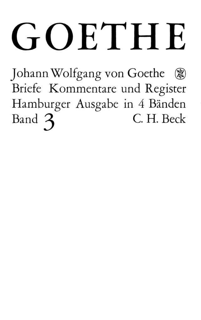 Goethes Briefe und Briefe an Goethe Bd. 3: Briefe der Jahre 1805-1821 als eBook pdf