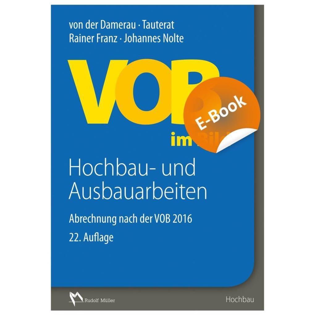 VOB im Bild - Hochbau- und Ausbauarbeiten - E-Book (PDF) als eBook pdf