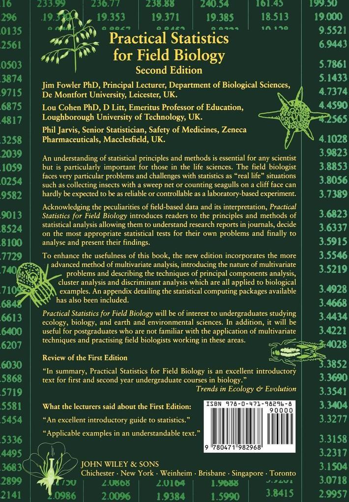 Practical Statistics for Field Biolog 2e als Buch (kartoniert)