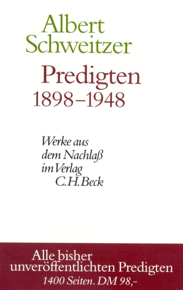 Predigten 1898-1948 als eBook pdf