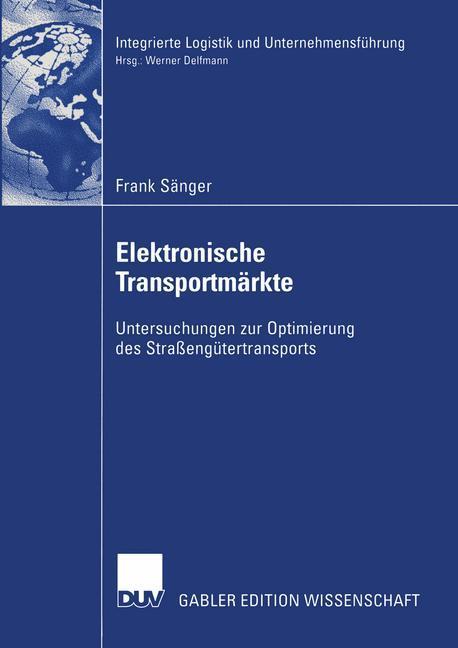 Elektronische Transportmärkte als Buch (kartoniert)