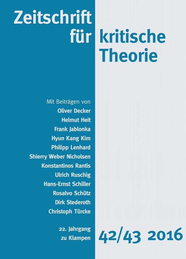 Zeitschrift für kritische Theorie als eBook epub