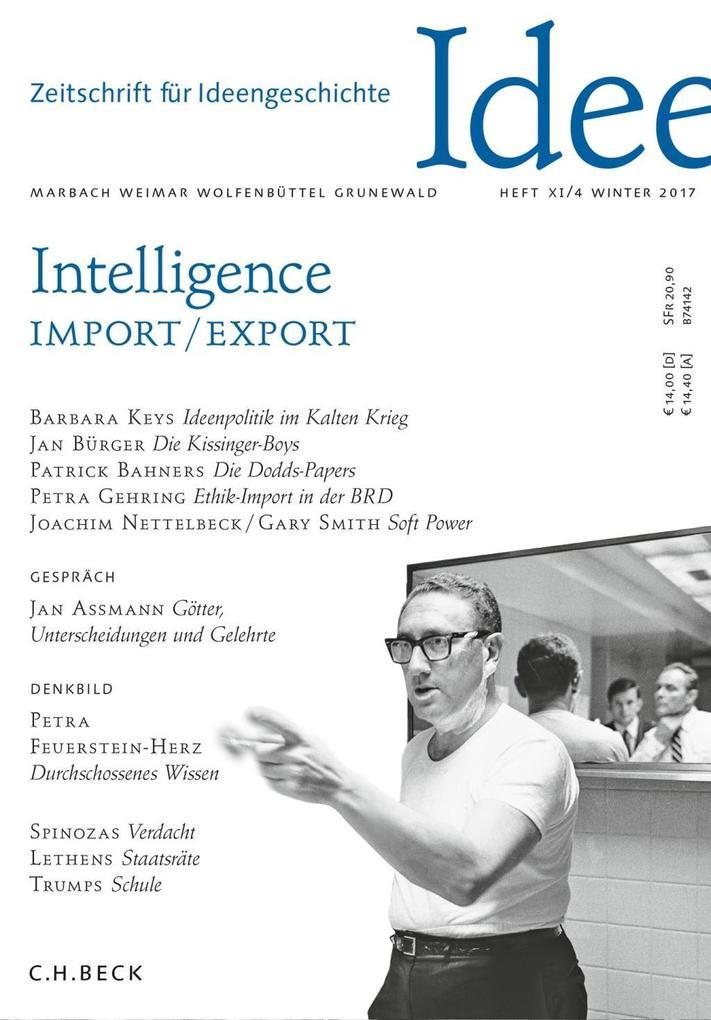 Zeitschrift für Ideengeschichte Heft XI/4 Winter 2017 als Buch (kartoniert)