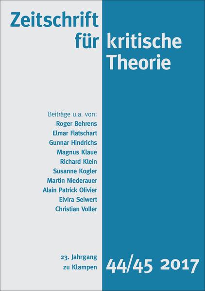 Zeitschrift für kritische Theorie als Buch (kartoniert)