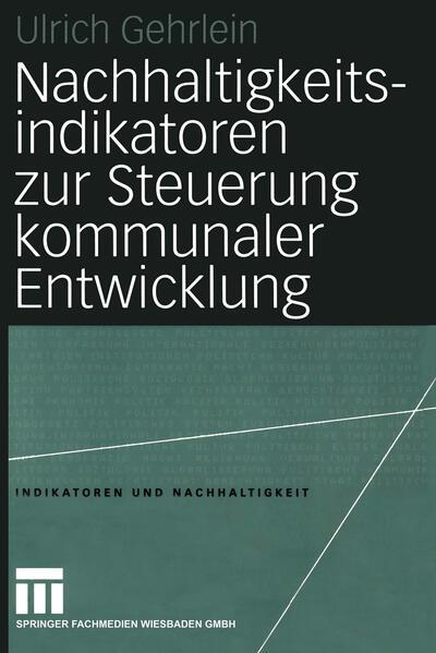 Nachhaltigkeitsindikatoren zur Steuerung kommunaler Entwicklung als Buch (kartoniert)