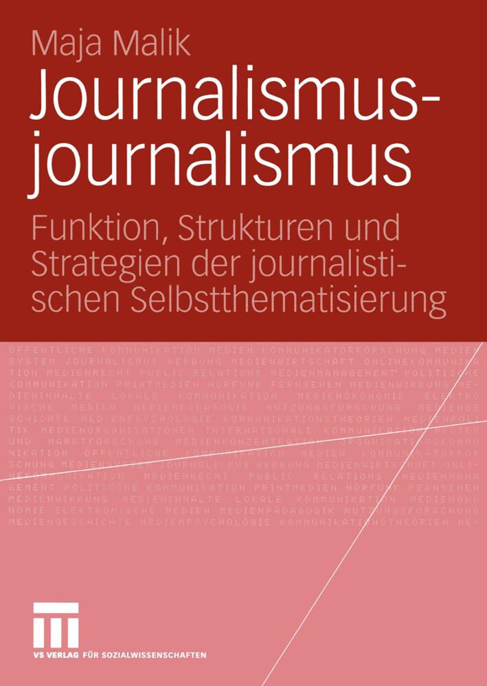 Journalismusjournalismus als Buch (kartoniert)