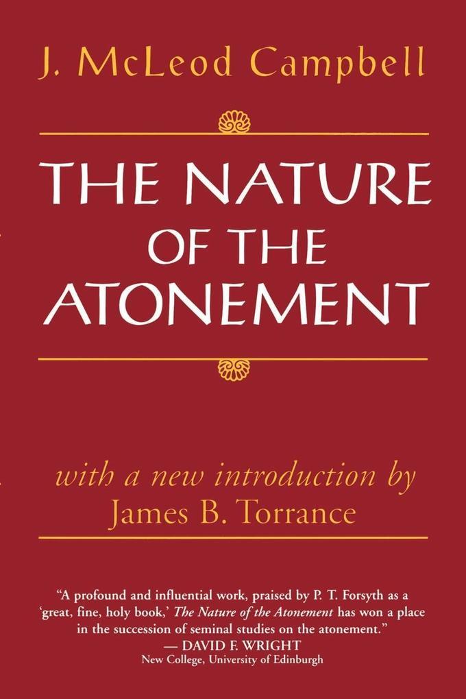 The Nature of the Atonement als Taschenbuch