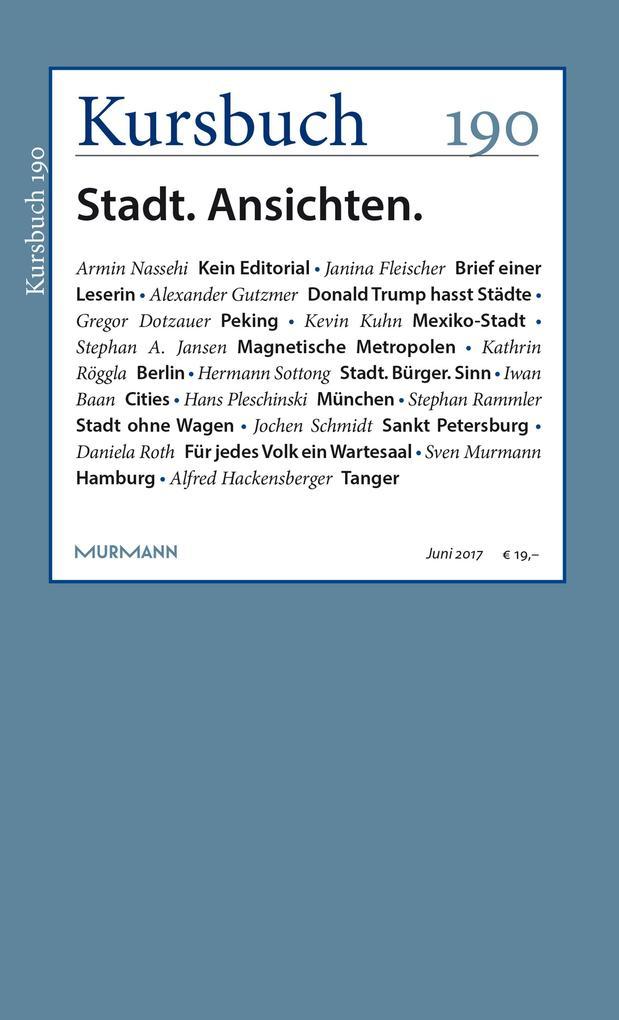 Kursbuch 190 als eBook epub