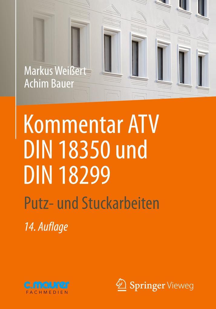 Kommentar ATV DIN 18 350 und DIN 18 299 als Buch (kartoniert)