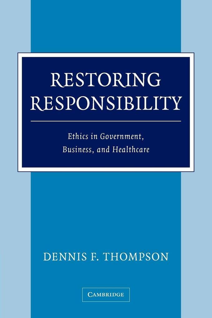 Restoring Responsibility als Taschenbuch