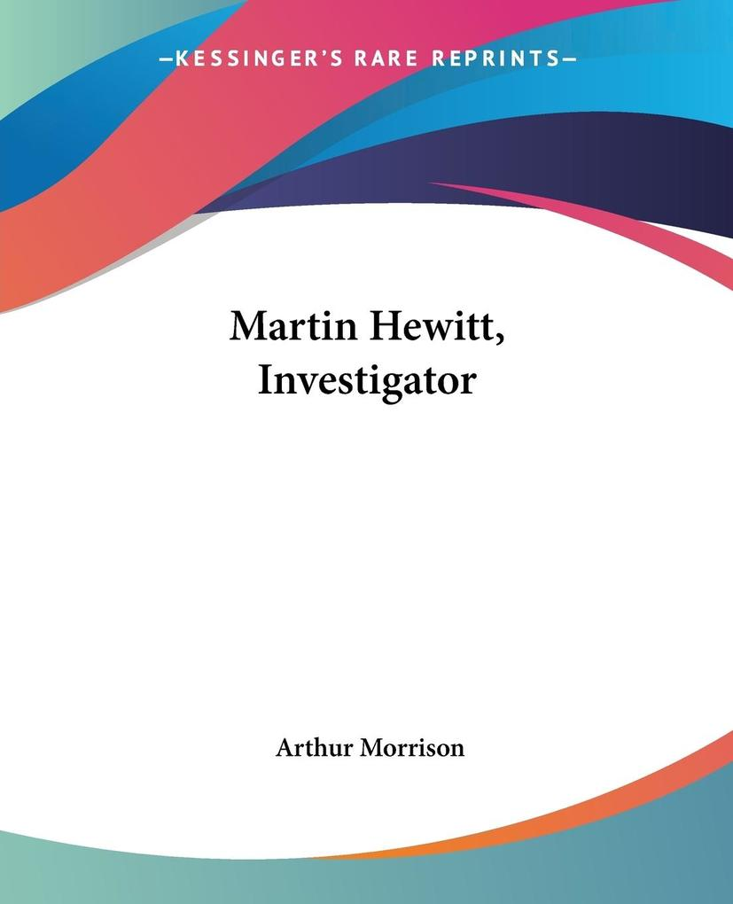 Martin Hewitt, Investigator als Taschenbuch