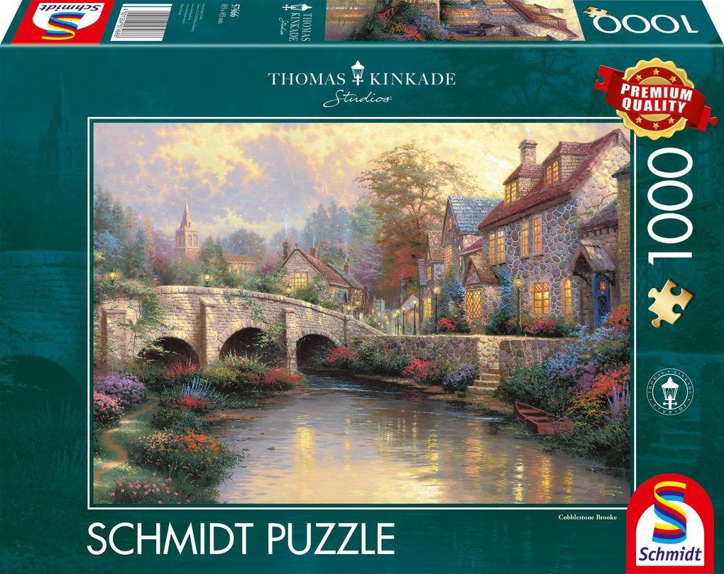 Bei der alten Brücke. Puzzle 1000 Teile als Spielware