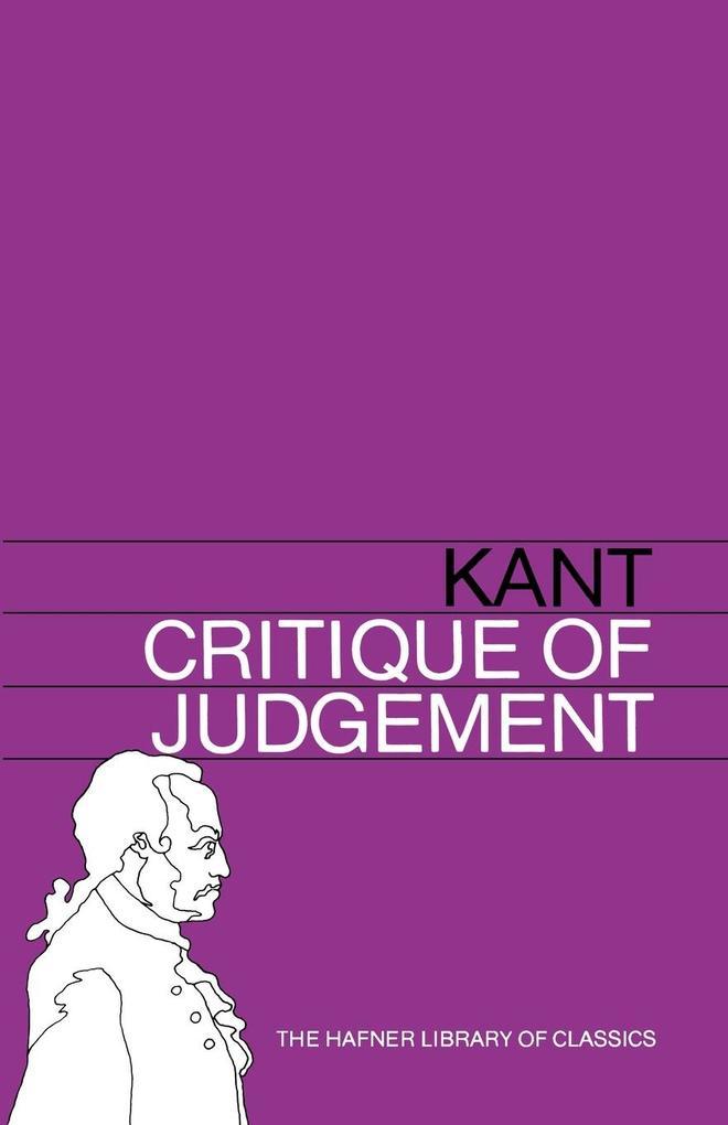 Critique of Judgement als Taschenbuch