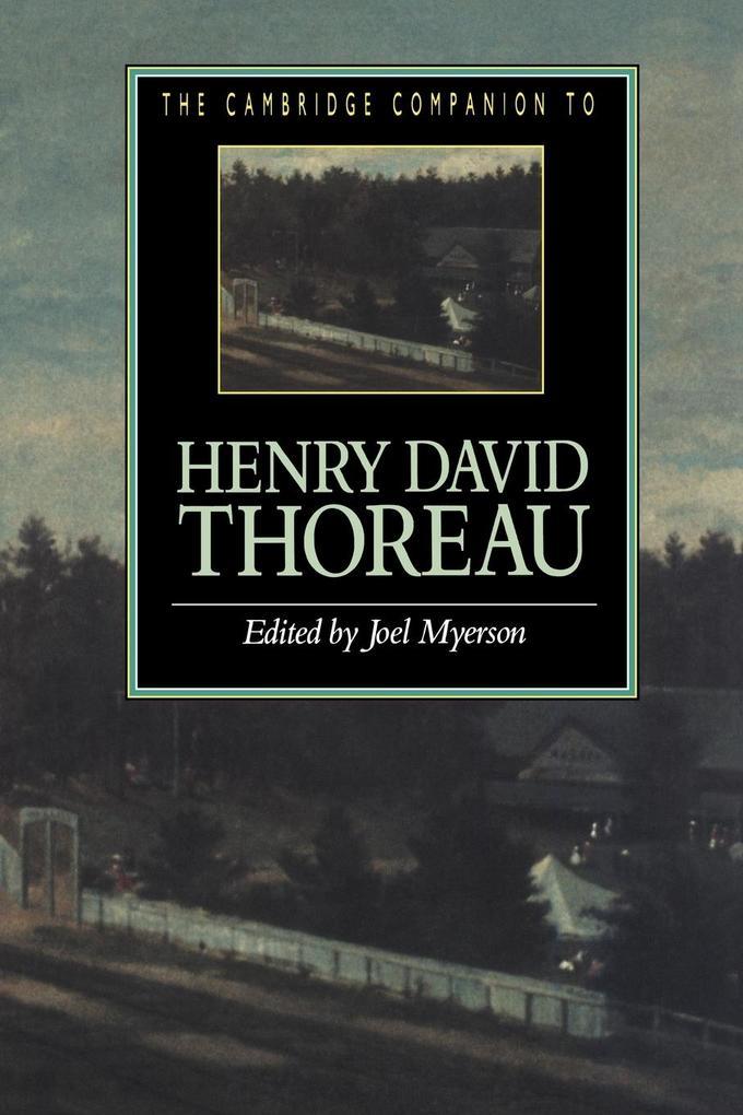 The Cambridge Companion to Henry David Thoreau als Buch (kartoniert)