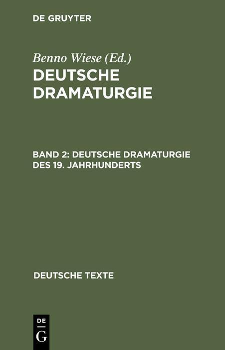 Deutsche Dramaturgie des 19. Jahrhunderts als eBook