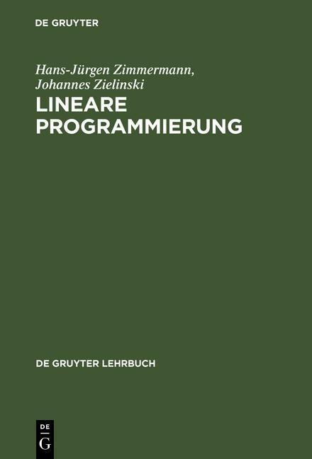 Lineare Programmierung als eBook pdf