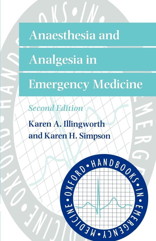 Anaesthesia and Analgesia in Emergency Medicine als Buch (kartoniert)