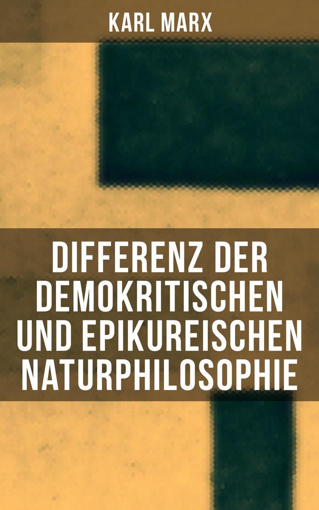 Differenz der demokritischen und epikureischen Naturphilosophie als eBook epub