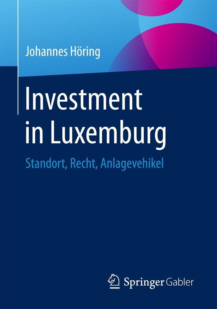 Investment in Luxemburg als eBook pdf